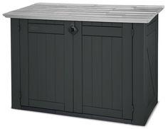 Keter 17183491 Mülltonnenbox Store it Out XL, Holzoptik, Kunststoff, schwarz/grau, für 2x240 Liter Mülltonnen: Amazon.de: Garten
