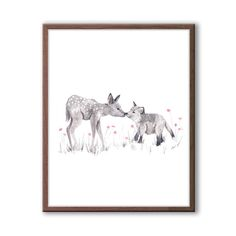 Woodland Nursery Art Baby Deer Watercolor Baby by TheDaisyFields