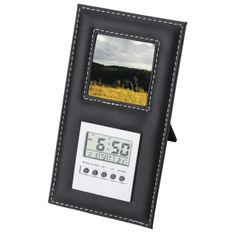 Standing Photo Frame and Digital Clock Digital Clocks, Gadget Gifts, Corporate Gifts, Frames, Frame, Digital Watch, Picture Frames