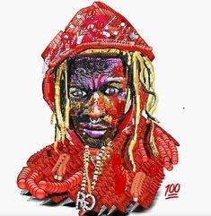 Rapper-artist Yung Jake inspires with lo-fi Emoji pop culture icon portraits. Smileys, Emoji Painting, Emoji Pop, Hip Hop Art, Young Thug, Celebrity Portraits, Black Art, Creative Art, Pop Culture