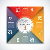 Vector infographic square template with 4 options Image Infographics, Infographic Templates, Four Square Writing, Free Vector Art, Lorem Ipsum, Illustration, Banner, Mind Maps, Design