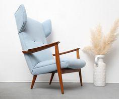 Vintage Sessel - 50er Ohrensessel Knoll Antimott neu gepolstert - ein Designerstück von silent-cube bei DaWanda