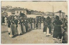 Greece-DANCING-WOMEN-Megara-TANZENDE-FRAUEN-Attika-AK-um-1915