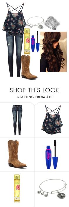 """""""Old Boots New Dirt"""" by southern-prep-374 ❤ liked on Polyvore featuring True Religion, Dingo, Maybelline, Alex and Ani and Miss Selfridge"""