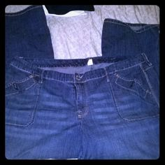 Blue denim bootcut stretch Stretched Jeans