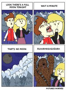 Howl at the moon! #starwars #wookie #chewbacca
