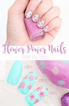 Flower Nail Art Step by Step Tutorial