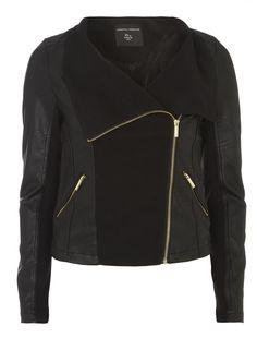Black Waterfall Zip Jacket