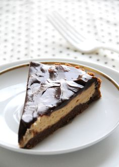 Peanut butter mousse tart from Creature Comforts blog. Just sub Earth Balance for the butter to make it dairy free.