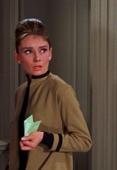 "Audrey playing Holly Golightly in ""Breakfast at Tiffany's"" (1961)."