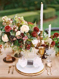 wedding centerpiece idea; photo: Marisa Holmes Photography