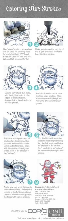 "photo tutorial created for Copic in the Craft Room on ""Coloring Fur with Strokes"" Like this? All of my photo tutorials are uploaded to the official Copic In The Craft Room Pinterest account and can be..."