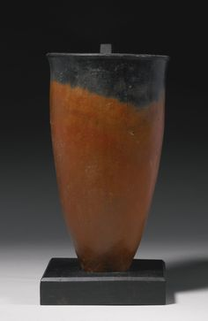 An Egyptian Black-topped Redware Pottery Jar, Predynastic Period, Nagada I / Early Naqada II, 4000-3400 B.C.