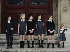 What a sophisticated bunch of kids. Their style is very posh. Maybe if there…