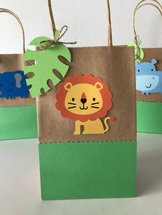 Zoo Animals Favor Bags Set of 12 Jungle Theme Birthday, Wild One Birthday Party, Party Favors For Kids Birthday, Safari Birthday Party, Baby Boy 1st Birthday, Jungle Party, Animal Birthday, Baby Party, First Birthday Parties