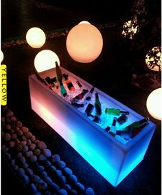 Led furniture / Keep your drinks cool with the ice bucket / glow furniture