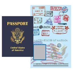 Printable Digital PDF File - Play Passport United States from Wonderful… Passport Template, Passport Card, Passport Stamps, Passport Services, Passport Online, United States Passport, Passport Renewal, Red Ribbon Week, Invitation