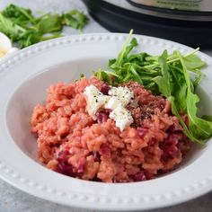 Instant Pot Beet Risotto is made in under 30 minutes. It's rich, creamy, and delicious. Great meal for special occasion or everyday dinner Bulgur Salad, Pressure Cooking Recipes, Risotto Recipes, Meatless Monday, Beets, Veggie Recipes, Rice Cooker, Slow Cooker, Food Videos