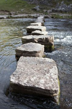 The historic stepping stones at Dovedale, in the Peak District National Park. Even better when you fall in. (Image via Coveted Temptations on Pinterest)