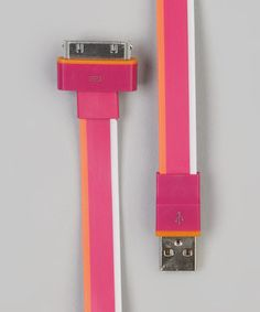 Take a look at this Magenta & Orange Flat 30-Pin Sync Cable for iOS Device by Zulily on #zulily today!