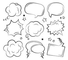 Sketchy comic speech bubbles Sketchy comic speech bubbles The post Sketchy comic speech bubbles & Flip Chart appeared first on Free . Doodle Drawings, Doodle Art, Lettering Tutorial, Hand Lettering, Letras Comic, Kalender Design, Bujo Doodles, Sketch Notes, Bullet Journal Inspiration