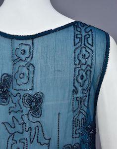 TEAL BLUE BEADED DRESS, 1920s - 3