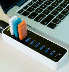 Uspeed USB 3.0 9-Port hub – $60 #usb #hub #port #pc #desk #office