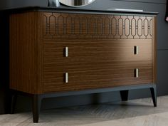 Commode à 3 tiroirs. Mod. ALYA Plywood Panels, 3 Drawer Dresser, Mdf Wood, Made Of Wood, Custom Furniture, Storage, Interior, Home Decor, Fashion