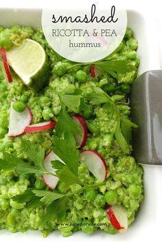 Smashed Ricotta & Pea Hummus