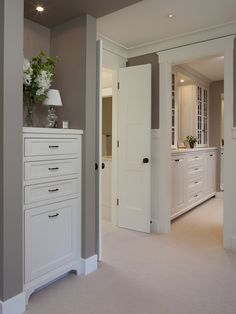 Built In Dresser Design, Pictures, Remodel, Decor and Ideas - page 3 Gray Bedroom, Closet Bedroom, Bedroom Colors, Home Bedroom, Master Bedroom, Master Bath, Master Closet, Master Suite, Closet Space