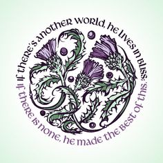 Thistles Robert Burns Quote Print by TheContraryCaptain on Etsy