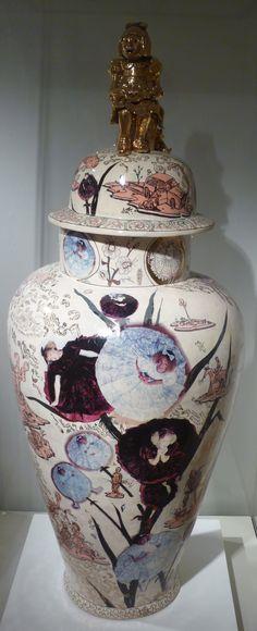 Grayson Perry Ceramic Clay, Ceramic Painting, Porcelain Ceramics, Grayson Perry Art, Ceramics Projects, Clay Design, China Art, Art For Art Sake, Modern Ceramics