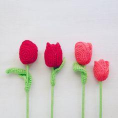 PDF Crochet Flower Tulip Pattern Easy Crochet Pattern by bySol