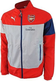 Arsenal  puma mens red silver polyester #leisure football #training #jacket 2014-,  View more on the LINK: 	http://www.zeppy.io/product/gb/2/261890032043/