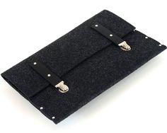MacBook 13 Air sleeve black case felt briefcase cover by SleeWay