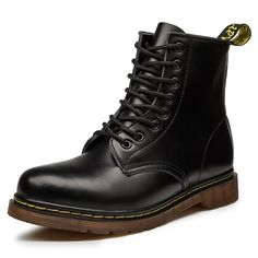 2019 New Brand Leather Ankle Boots Autumn Winter Men's Boots Fashion Motorcycle Boots Outdoor Working Snow Boots Men Shoes , High Top Boots Mens, Mens Snow Boots, Men Boots, Winter Shoes, Summer Shoes, Leather Ankle Boots, Combat Boots, Mens Boots Fashion, Fashion Men