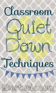"""Obertopia: Classroom Quiet-Down Techniques. I really like these techniques and her theme of her classroom as a land/nation/community with classroom """"laws"""" :] Source link Classroom Discipline, Classroom Management Strategies, Teaching Strategies, Teaching Tips, Classroom Activities, Classroom Organization, Behaviour Management, Classroom Ideas, Classroom Behaviour"""