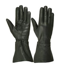 Buy Men's Unlined Extra Long Water Resistant Leather Gauntlet Glove - Black - and Shop the latest styles of Affordable Men's Cold Weather Gloves. Leather Armor, Leather Gloves, Leather Men, Leather Gauntlet, Gauntlet Gloves, Winter Motorcycle Gloves, Deerskin Gloves, Cold Weather Gloves, Long Gloves