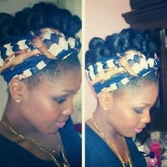 Natural Hairstyle... got to learn how to do this
