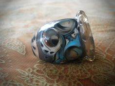 Lampwork Art Glass Collectible Thimble, OOAK, SRA, signed - pinned by pin4etsy.com
