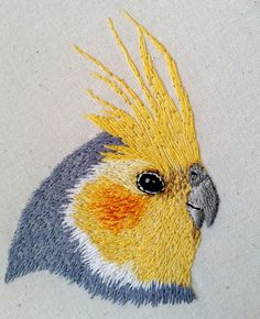 Cockatiel embroidery | by Cat Gabriel Art