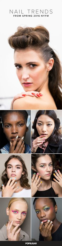Some of the most revolutionary artists were from Europe: Pablo Picasso of Spain, Claude Monet of France, and Michelangelo of Italy, to name a few. As Fashion Month steams ahead abroad, the Spring 2016 collections are establishing a new generation of artistry. The nail art masterpieces seen up and down the runway transcend the average manicure, and we've got them all right here.
