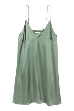 Slip dress - Green - Ladies | H&M GB