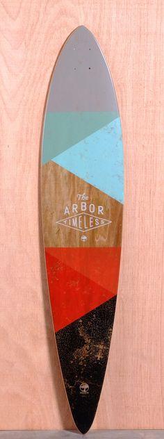 "Arbor 46"" Timeless Pin Longboard Deck - Koa"