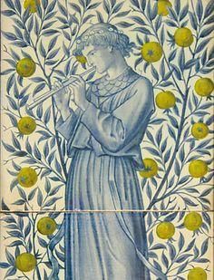 William Morris design adapted by Charles Fairfax Murray, circa 1870