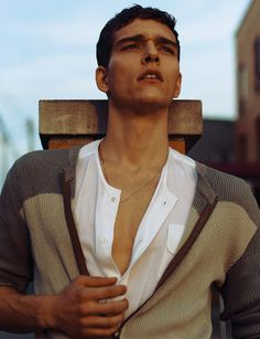 Brazilian top model Alex Cunha connects with Joseph Gray for an eye-catching Carbon Copy story, Alone in This Ghost Town 'til He Checks In was styled by Torian Lewin.