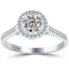 1.05 Carat H-VS1 Vintage Style Natural Round Diamond Engagement Ring 18k Gold #LioriDiamonds #DiamondEngagementRing