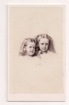 Vintage CDV 2 Beautiful Young Girls Golden Locks Whipple Photo Boston | Collectibles, Photographic Images, Vintage & Antique (Pre-1940) | eBay!