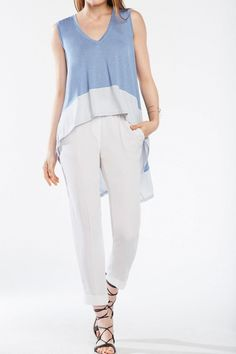 Embrace weekend ease in a fluid high-low top with graphic color-blocking. Pullover.   Adley by BCBG. Clothing - Tops - Tees & Tanks Canada
