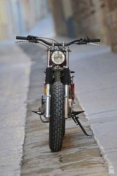 Handlebar! Yamaha SR250 ReBorn feature SIDEBURN #13